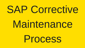 Sap Corrective Maintenance Process Tutorial Free Sap Pm