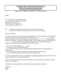 Letter Of Verification Of Employment Letter Proof Of Employment Sample Professional Resume
