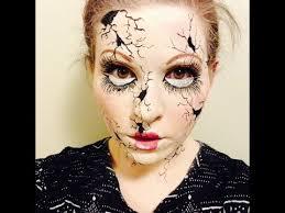 creepy ed broken doll makeup tutorial