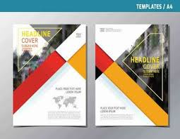 Annual Report Template Design Impressive Leaflet Brochure Template A48 Size Designabstract Red Yellow