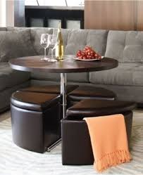 trendy coffee table leather round coffee table with storage ottomans with ottomans  for seating.