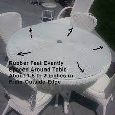 glass table tops clean free from sliding