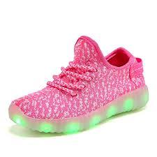 Big Kids Light Up Shoes Xzspr Kids Boys Girls Breathable Led Light Up Flashing Sneakers For Children Shoes Toddler Little Kid Big Kid