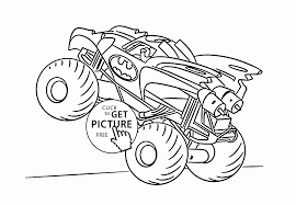 Batman Monster Truck Coloring Page For Kids Transportation Coloring