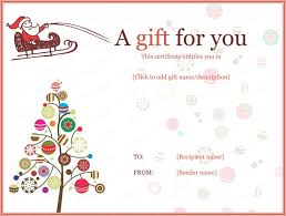 Free Christmas Gift Certificate Template Best 25 Free Gift