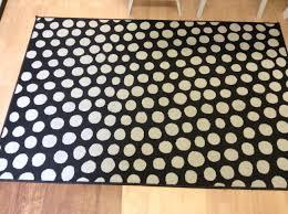 black and white geometric rug. black \u0026 white polka dot rug (ikea) and geometric