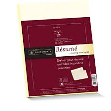 Southworth Resume Envelopes (9x12 Inches) and labels, 25% Cotton, 24 lb