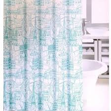 Aqua Teal Seagrass And Colorful Tropical Fish Fabric Shower