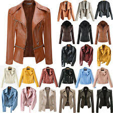 <b>Faux Leather Parkas</b> Solid <b>Coats</b> & Jackets for <b>Women</b> for sale | eBay