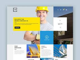 Construction Business Psd Website Template Best Psd Website