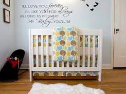 image is loading i 039 ll love you forever vinyl wall  on wall decal quotes for nursery with i ll love you forever vinyl wall decal words lettering quote baby