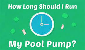 i run my pool pump every