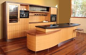Sophisticated Modern OneWall Kitchen Design With Two Layer Island - One wall kitchen designs