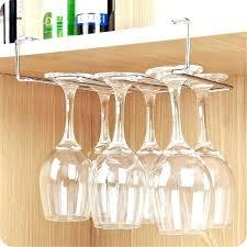 wall wine rack stainless steel glass holder under cabinet storage organizer stemware mounted racks uk amazing
