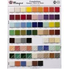 Mayco Foundations Color Chip Board