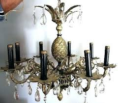 old brass chandelier 9 of beautiful vintage antique crystal 8 arm pineapple value table lamp vintage brass chandelier