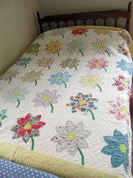Jayne's Quilting Room: Grandma's Quilts & A second applique daisy quilt, using prints this time, as opposed to plaids  and stripes which the previous quilt had. A lot of these fabrics were  originally ... Adamdwight.com