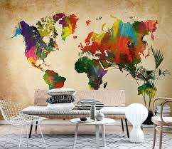 world map wallpaper mural colored world map wall mural world map wallpaper mural uk