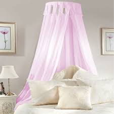 Lilac Bedroom Curtains Details About Princess Bed Canopy Coronet Corona Pink Lilac Voile