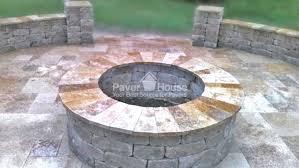 fire pit tampa brick paver backyard