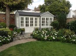 Shed Painted In Lichen By Farrow And Ball Garden Sheds - Farrow and ball exterior colours