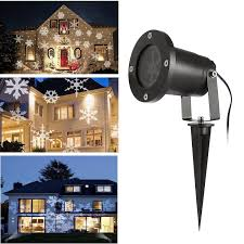 Used Outdoor Christmas Lights For Sale Christmas Led Projector Lights Urcare Waterproof White Snowflake Landscape Spotlight Show For Indoor Outdoor Garden Lawn Holiday Decoration White