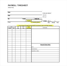 Employee Payroll Samples Templates Word Excel Weekly