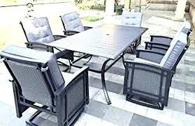 patio dining sets patio dining sets outdoor home depot rocking aluminum