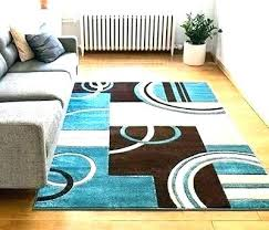 well woven area rug geometric rugs blue echo shapes circles modern flat hand hillsby