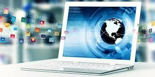 virtual office tools. Laptop With Internet Open A Virtual Door To Information Sharing Office Tools S