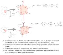 i ot a write expressions for the net heat diffusion flows w in