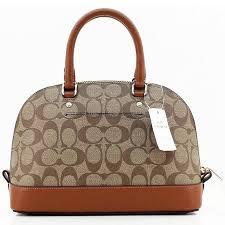 ... Coach F37232 Mini Sierra Satchel In Signature Crossbody Bag Brown Khaki  ...