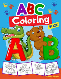 Touch the screen to fill in the letter and the pieces surrounding it. Abc Coloring Book For Kids Ages 4 8 Alphabet Coloring Book For Kids Abc Coloring Book For Preschoolers Activity Book Teaches Abc Letters Words F