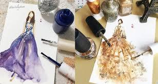 Umělkyně Využívá Lak Na Nehty Pro Malování Noblesních šatů