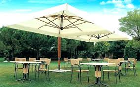 patio umbrella with solar led lights in tan offset