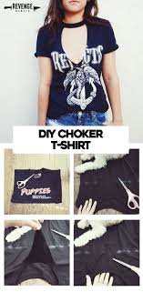 diy cutout choker t shirt perfect for summer fashion ideas how to update