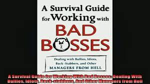 book a survival guide for working bad bosses dealing 00 07