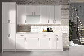 bianca white shaker kitchen cabinets in stock