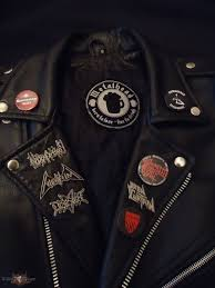 pins and ons on my leather jacket tshirtslayer tshirt and battlejacket gallery
