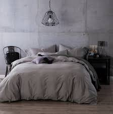 luxury egyptian cotton duvet cove flat sheet pillowcase 4pcs complete bedding sets solid color grey queen king size in bedding sets from home garden on