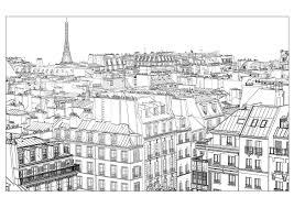 Carte De Paris Dessin Coloriage