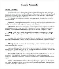 Cost Proposal Templates Formal Proposal Template Job Proposal Template Free Download Sample 92