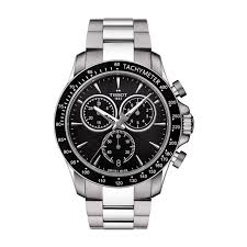 mens tissot watches fraser hart jewellers official stockists tissot t sport v8 chronograph men s black dial stainless steel watch