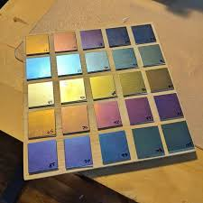 Anodizing Voltage Chart Me And My Assistant Made Up This Voltage Color Guide Chart