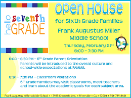 Open House Powerpoint Open House Frank Augustus Miller Middle