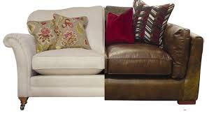 Fabulous Fabric Leather Sofa Fabric Vs Leather Sofas Adorable Home