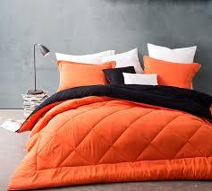 Orange/Black Reversible Full Comforter   Oversized Full XL Bedding