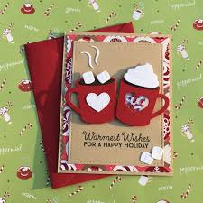 Scrapbooking Christmas Cards Designs Holiday Hot Cocoa Scrapbook Com Diy Christmas Cards