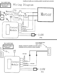 craftsman garage door opener wiring diagram