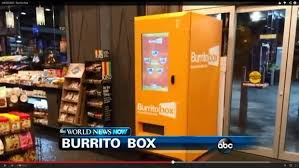 Burrito Vending Machine Franchise Inspiration Burritobox The World's First Burrito Vending Machine
